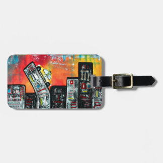 Taxi Cab City Art Tags For Bags