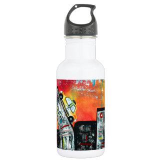 Taxi Cab City Art 532 Ml Water Bottle