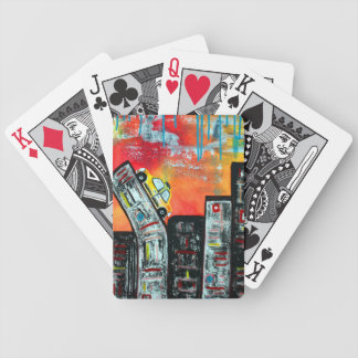 Taxi Cab City Art Bicycle Poker Deck