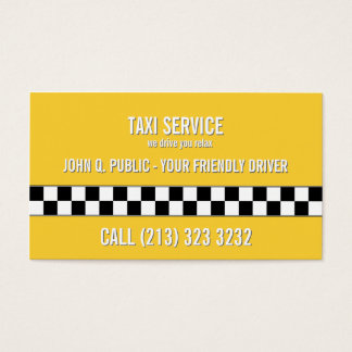 Taxi Cab Driver Black and White Pattern