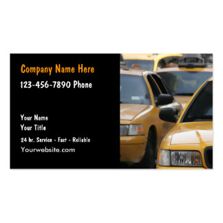 Taxi Cab Driver Business Cards
