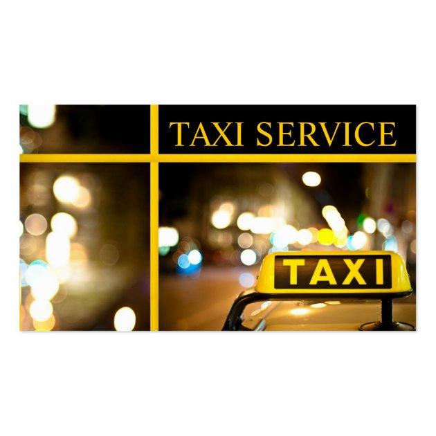 Taxi Cab Driver Transportation Business Card