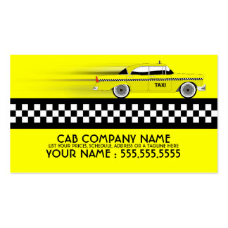taxi cab pack of standard business cards