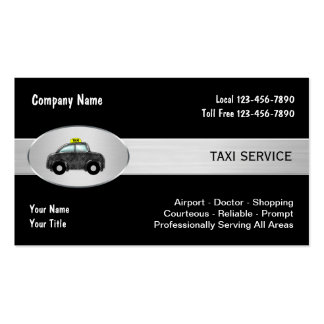 Taxi Cab Service Business Cards