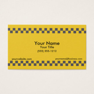 Taxi Checkered Business Card