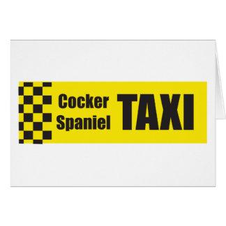 Taxi Cocker Spaniel Card