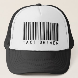 Taxi Driver Bar Code Trucker Hat