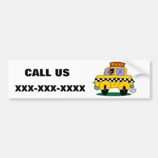 Taxi Driver Car Bumper Sticker