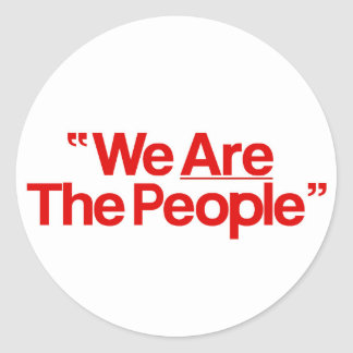 "Taxi Driver ""incoming goods of acres The People "" Classic Round Sticker"