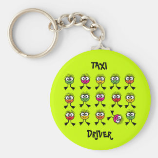 Taxi Driver Key Ring- Swimming Parent - Lime Green Key Chain