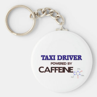 Taxi Driver Powered by caffeine Basic Round Button Key Ring