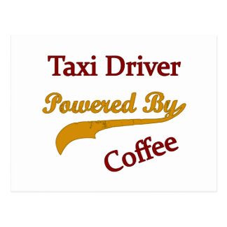 Taxi Driver Powered By Coffee Postcard