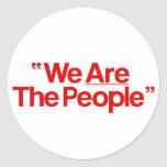 """Taxi Driver """"We Are The People"""" Round Sticker"""