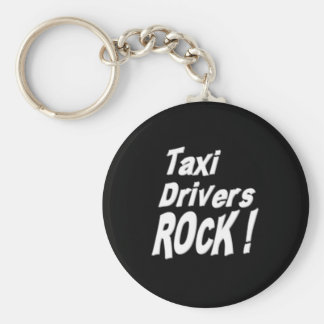 Taxi Drivers Rock! Keychain