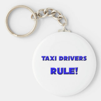 Taxi Drivers Rule! Basic Round Button Key Ring