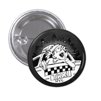 Taxi Girl 3 Cm Round Badge