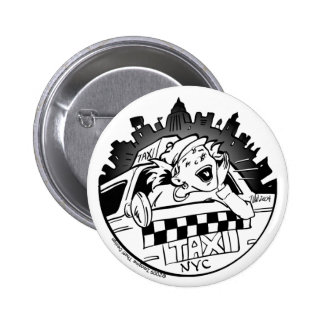 Taxi Girl_Button 6 Cm Round Badge