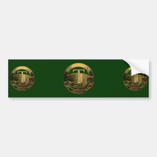 TAXI Gold T Bumper Sticker