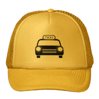 Taxi in Black & White Cap