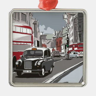 Taxi in London Christmas Ornament