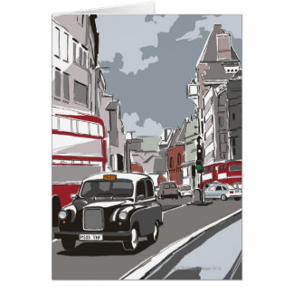 Taxi in London Greeting Card