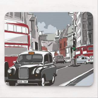 Taxi in London Mouse Mat
