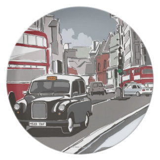 Taxi in London Plate