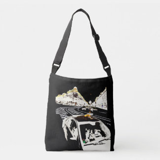 Taxi in Paris Crossbody Bag