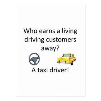 Taxi Joke Postcard