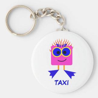 TAXI - Keyring Basic Round Button Key Ring