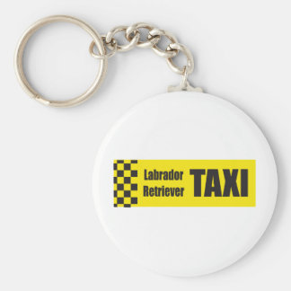 Taxi Labrador Retriever Basic Round Button Key Ring