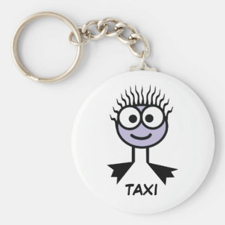 TAXI - Lilac Swim Character Keyring Basic Round Button Key Ring