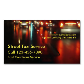Taxi Magnetic Business Cards