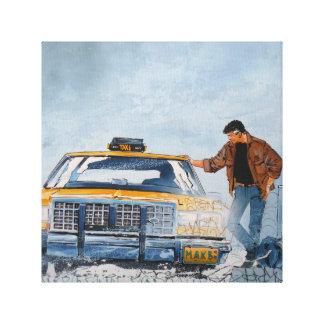 Taxi Man Graffiti Art Canvas