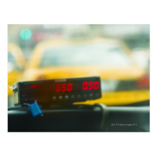 Taxi Meter Postcard