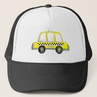 Taxi NYC Yellow New York City Checkered Cab Car Cap