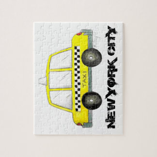 Taxi NYC Yellow New York City Checkered Cab Car Jigsaw Puzzle
