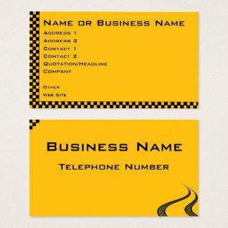 Taxi or Cab Service Business Profile Card