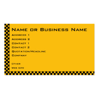 Taxi or Cab Service Business Profile Card Pack Of Standard Business Cards