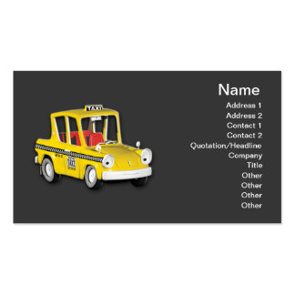 Taxi Pack Of Standard Business Cards