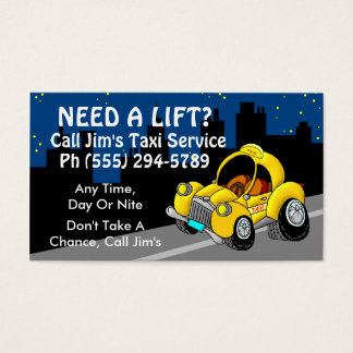 Taxi Service Business Card
