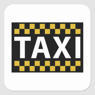 Taxi Square Sticker