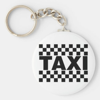 Taxi ~ Taxi Cab ~ Car For Hire Basic Round Button Key Ring
