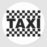 Taxi ~ Taxi Cab ~ Car For Hire Round Sticker