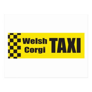 Taxi Welsh Corgi Postcard