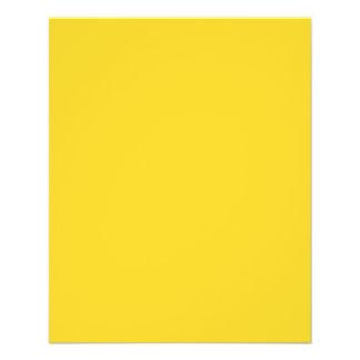 Taxi Yellow Acid Lemon Yellow Uptown Girl Designer 11.5 Cm X 14 Cm Flyer