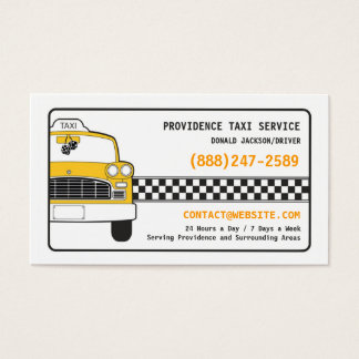 Taxi Yellow Cab Business Card