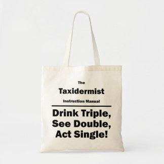 taxidermist tote bag
