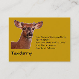 Taxidermy business cards business card printing zazzle uk taxidermy business card colourmoves