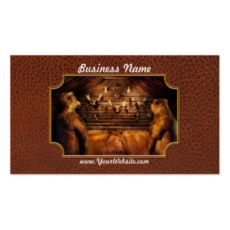 Taxidermy - Home of the three bears Pack Of Standard Business Cards